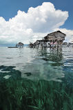 Wooden Bajau finsherman's hut Stock Photography