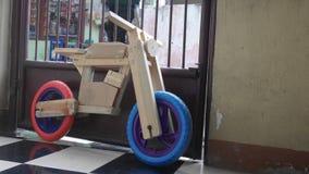 Wooden balance bike. Hand made wooden balance bike Stock Image