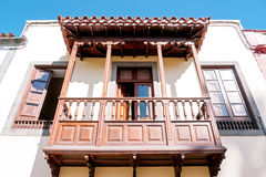 Wooden balcony Stock Photography
