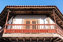 Wooden balcony Royalty Free Stock Photography