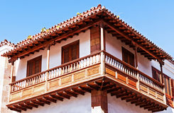 Wooden balcony Stock Image