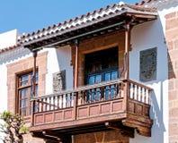 Wooden balcony Royalty Free Stock Photography