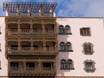 Wooden Balcony in Gran Canaria Spain Royalty Free Stock Photo