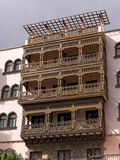 Wooden Balcony in Gran Canaria Spain Royalty Free Stock Photography