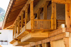 Wooden balcony Royalty Free Stock Images
