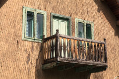 Wooden balcony Royalty Free Stock Photos