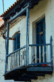 Wooden balcony in an old house Royalty Free Stock Photos