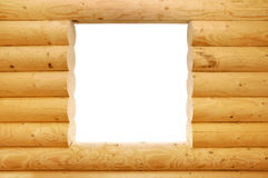 Wooden balk window Stock Image