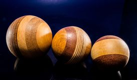 Wooden Ball, Turned, Hand Labor Stock Image