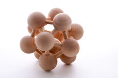 Wooden Balls. Puzzle assembled on white background Royalty Free Stock Photography