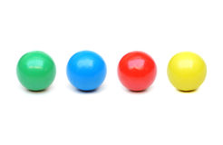 Wooden balls Stock Images
