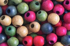 Wooden balls Royalty Free Stock Images