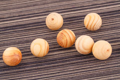 Wooden balls Royalty Free Stock Image