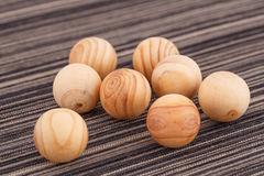 Wooden balls Stock Photo