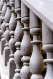 Wooden balusters Stock Image