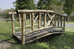 Wooden Bamboo bridge Royalty Free Stock Photos