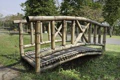 Wooden Bamboo Bridge Royalty Free Stock Photos
