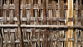 Wooden bamboo Fence Stock Images