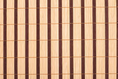 Wooden bamboo mat background Royalty Free Stock Photography