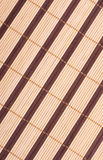 Wooden bamboo mat background Stock Photography