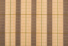 Wooden bamboo mat background Royalty Free Stock Images