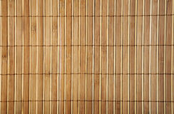 Wooden bamboo  mat Royalty Free Stock Photo