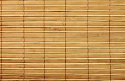 Wooden bamboo  mat Stock Image