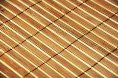 Wooden bamboo  mat Stock Images
