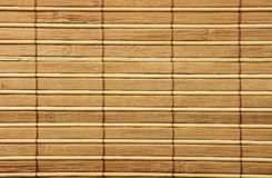 Wooden bamboo  mat Stock Photo