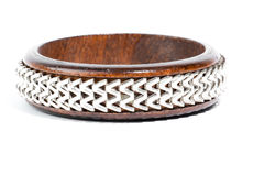 Wooden bangle Royalty Free Stock Photography