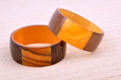 Wooden bangles Royalty Free Stock Photos
