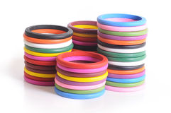 Wooden bangles Stock Images