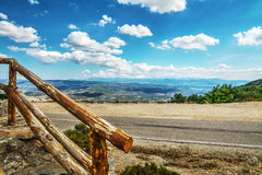 Wooden banister in Monte Pisanu Stock Photography