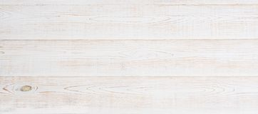 Wooden banner floor background. White wood desk table top view and mock up. Template and blank copy space. Wooded texture.  stock images