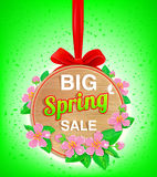Wooden banner spring Royalty Free Stock Photos