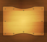 Wooden banner Royalty Free Stock Images