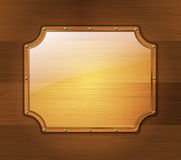 Wooden banner Royalty Free Stock Image