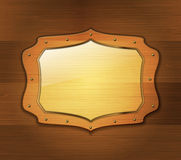 Wooden banner Stock Images