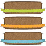 Wooden banners Stock Photography