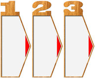 Wooden Banners with Three Options Stock Image