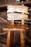 Wooden bar chair in country style Stock Images