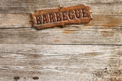 Wooden barbecue signboard Stock Image