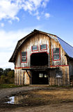 Wooden Barn. Structure of an old Wooden Barn against blue skies in autumn Stock Photos