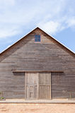 A wooden barn /Country barn and blue sky in sunny day Stock Photos
