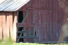 Wooden barn details. Exterior architectural details of wooden barn building Stock Photography