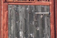 Wooden Barn Door Stock Images