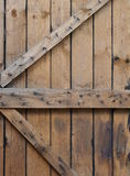 Wooden barn dorn. Detail of wooden barn dorn stock photography