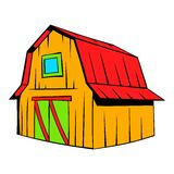 Wooden barn icon cartoon Stock Photo