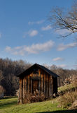 Wooden barn in Ohio. Wooden burn in southeastern Ohio used to dry corn many years ago Royalty Free Stock Photography
