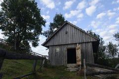 Wooden barn in Scarisoara village Stock Photo